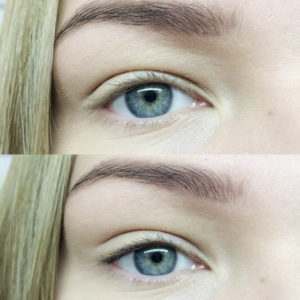 eyeliner tattoo before and after